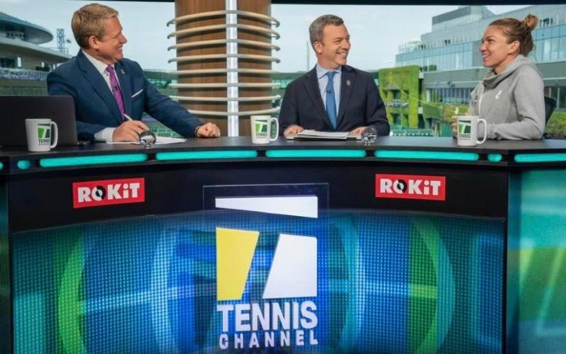Brett & Jon Wertheim interview Simona Halep on Tennis Channel's set at Wimbledon